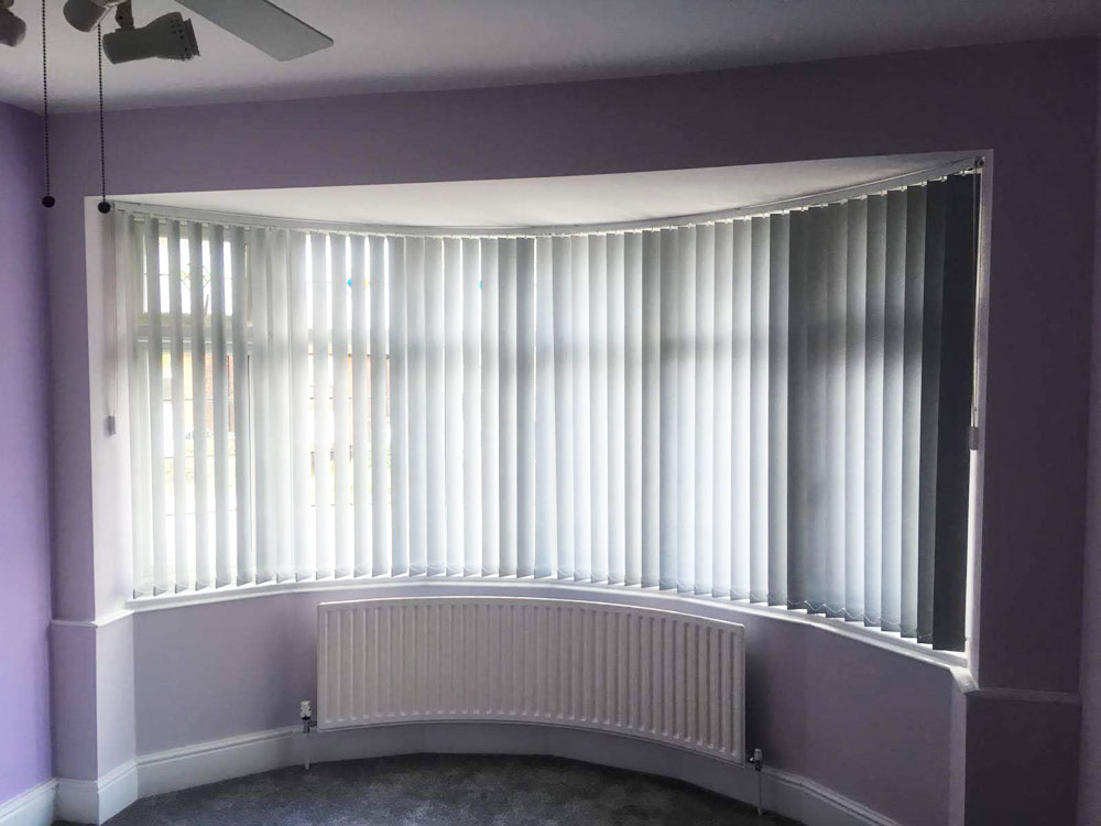 Curved Track Vertical Blinds